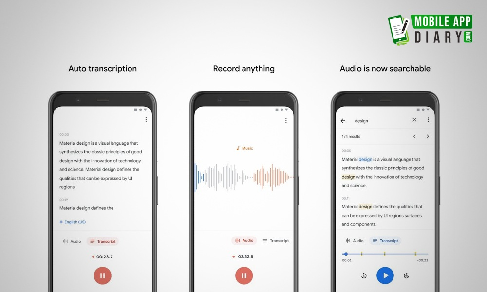 Google AI Powered Voice Recorder Made Voice To Text