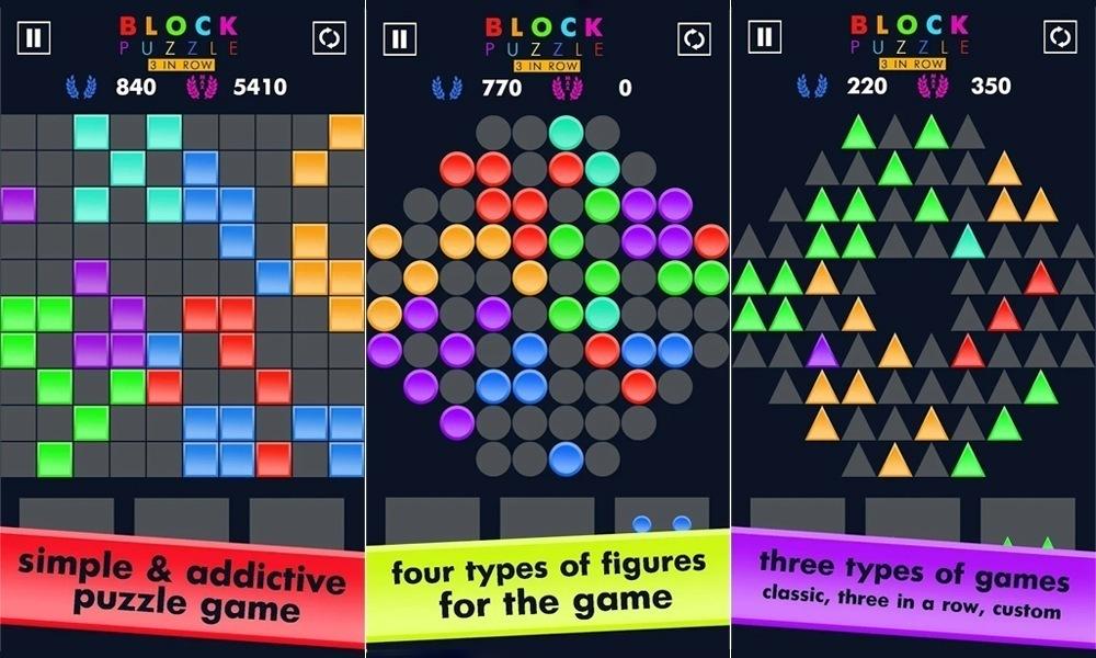 Block Puzzle Game App screen