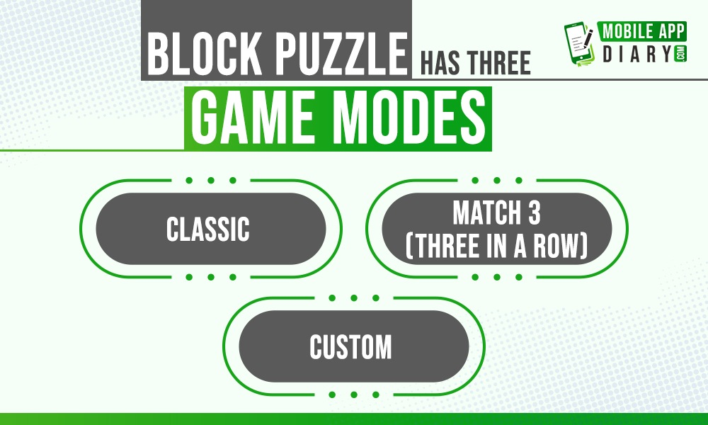 Block Puzzle game three stages