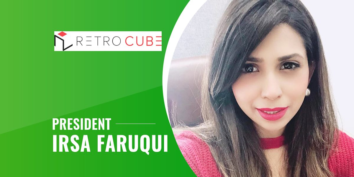 Mobileappdiary Recently Covered the Interview of President of Retrocube, Irsa Faruqui