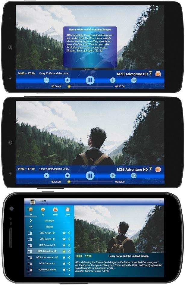 TiviApp Live Playstore screen