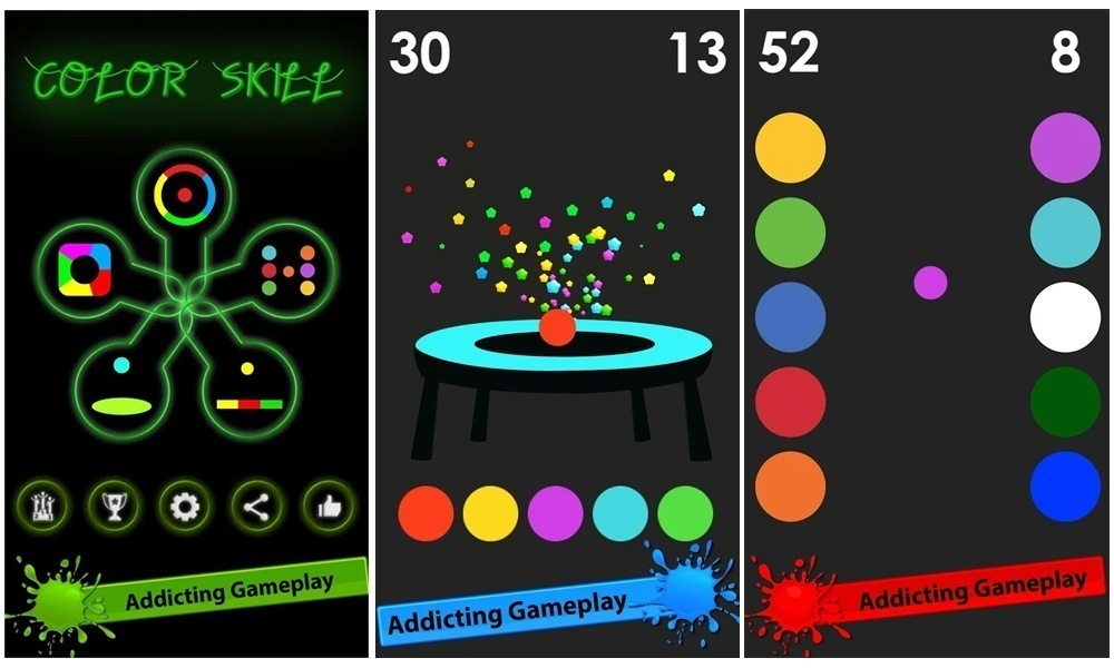 About ColorSkill Game in GooglePlaystore