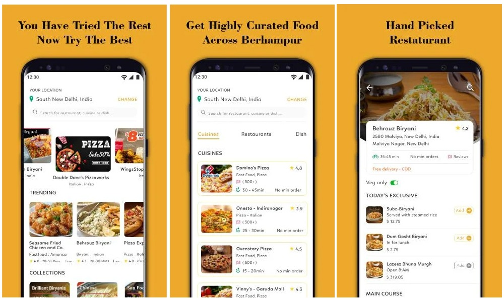 Bodia Curated Food Delivery App