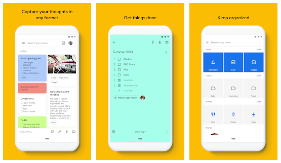 Google Keep Notes